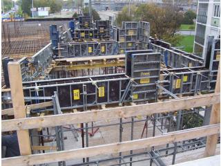 Győr, Mártírok útja 66. irodaház szerkezetépítési munkái 2007
